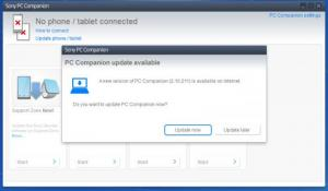 Enlarge Sony PC Companion Screenshot