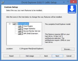 Enlarge Droid Explorer Screenshot