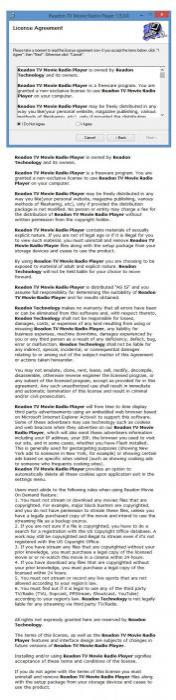 Enlarge Readon TV Movie Radio Player Screenshot