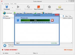 Enlarge Turbo Internet Screenshot