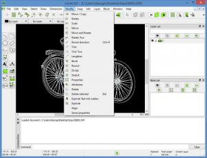 Enlarge LibreCAD Screenshot