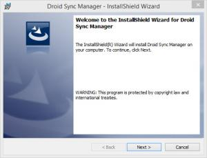 Enlarge Droid Sync Manager Screenshot