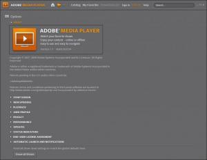 Enlarge Adobe Media Player Screenshot