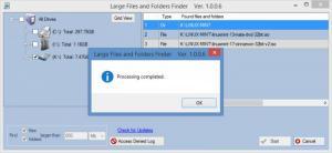 Enlarge Large Files and Folders Finder Screenshot