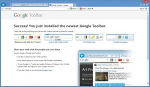 Enlarge Google Toolbar Screenshot