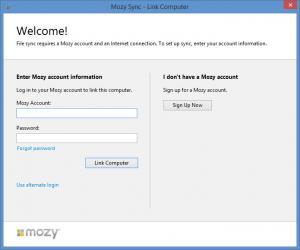 Enlarge Mozy Sync Screenshot