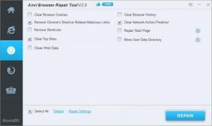 Enlarge Anvi Browser Repair Tool Screenshot