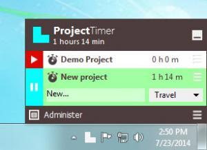 Enlarge Project Timer Screenshot