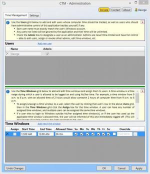 Enlarge Computer Time Manager Screenshot