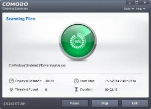 Enlarge Comodo Cleaning Essentials Screenshot