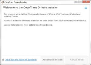 Enlarge CopyTrans Drivers Installer Screenshot