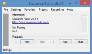 Enlarge Screamer Radio Screenshot