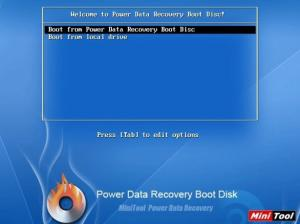 Enlarge MiniTool Power Data Recovery Boot Disk Screenshot