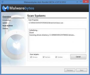 Enlarge Malwarebytes Anti-Rootkit Screenshot