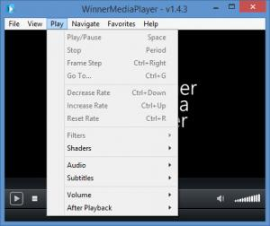 Enlarge Winner Media Player Screenshot