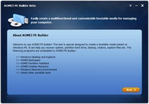 Enlarge AOMEI PE Builder Screenshot