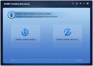 Enlarge AOMEI OneKey Recovery Screenshot