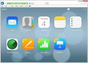 Enlarge iCloud Control Panel Screenshot