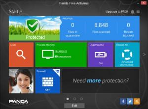 Enlarge Panda Free Antivirus Screenshot