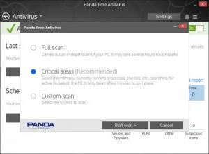 Enlarge Panda Free Antivirus Screenshot