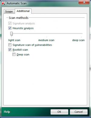 Enlarge Kaspersky Virus Removal Tool Screenshot