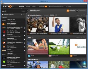 Enlarge Zattoo Screenshot
