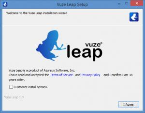 Enlarge Vuze Leap Screenshot