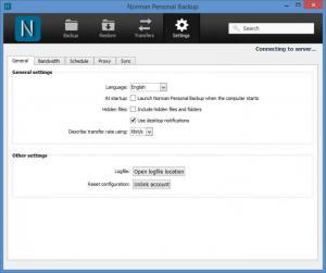 Enlarge Norman Personal Backup Screenshot