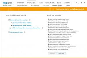 Enlarge Emsisoft Internet Security Screenshot