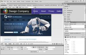 Enlarge Adobe Dreamweaver Screenshot