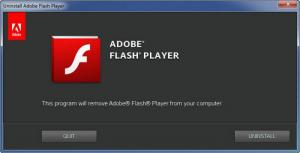Enlarge Adobe Flash Player Uninstaller Screenshot
