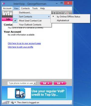 Enlarge InterVoip Screenshot