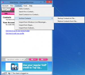 Enlarge InterVoip Screenshot
