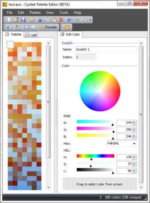 Enlarge Cyotek Color Palette Editor Screenshot