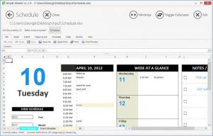 Enlarge Simple Sheets Screenshot