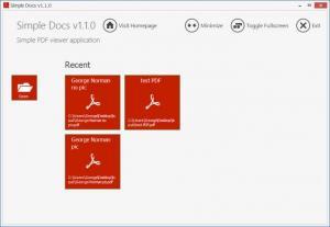 Enlarge Simple Docs Screenshot