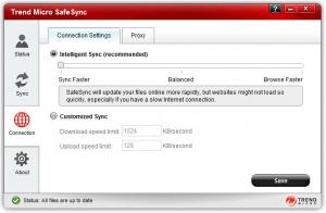 Enlarge Trend Micro SafeSync Screenshot