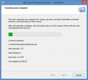 Enlarge Microsoft Safety Scanner Screenshot