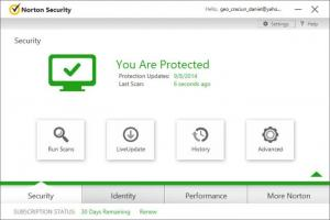 Enlarge Norton Security Screenshot