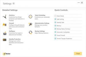 Enlarge Norton Security with Backup Screenshot