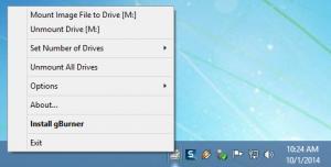 Enlarge gBurner Virtual Drive Screenshot