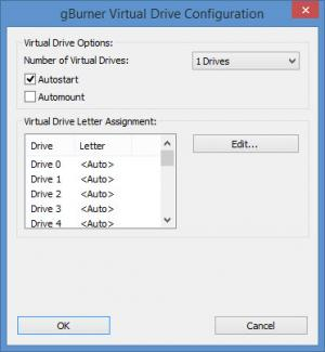 Enlarge gBurner Virtual Drive Screenshot