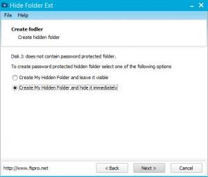 Enlarge Hide Folder Ext Screenshot