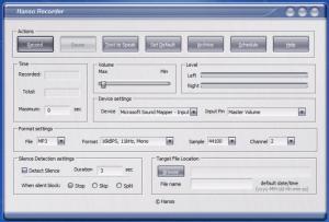 Enlarge Hanso Recorder Screenshot
