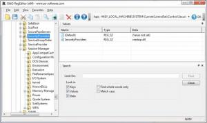 Enlarge O&O RegEditor Screenshot