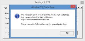Enlarge Aloaha PDF Suite Screenshot