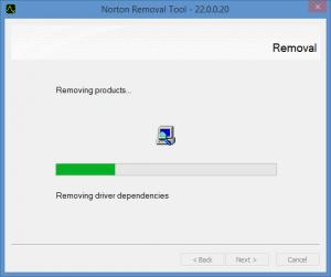 Enlarge Norton Removal Tool Screenshot