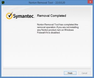 Enlarge Norton Removal Tool Screenshot