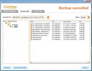 Enlarge Clickfree Automatic Backup Screenshot