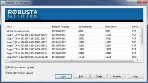 Enlarge Robusta Port Forwarder Screenshot